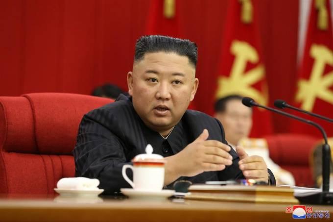 Kim Jong-un, em recente aparição: perda de peso preocupa