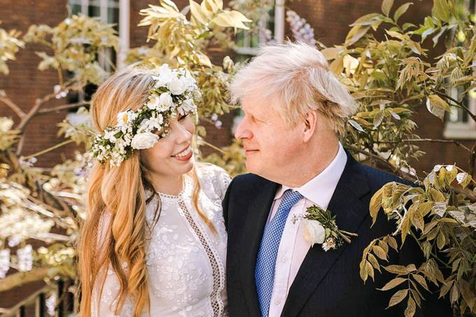 BRITAIN-POLITICS-JOHNSON-WEDDING