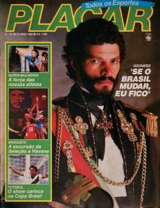 Capa da revista Placar de 27 de abril de 1984 -