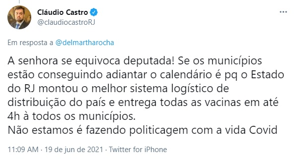 A resposta de Cláudio Castro