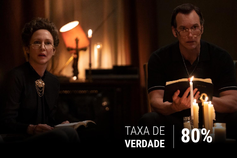 Vera Farmiga e Patrick Wilson dão show de atuação como o casal Warren