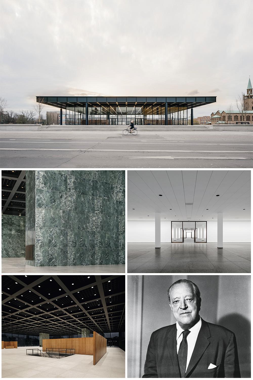 MENOS É MAIS -A fachada da galeria e o pavilhão principal, além de salas internas: o legado do arquiteto e professor da Bauhaus preservado -