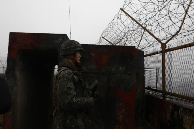 Fronteira sul-coreana, uma das mais militarizadas do mundo