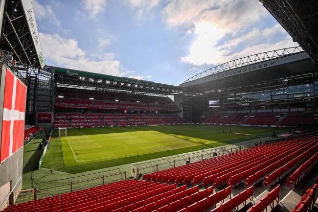 O estádio Telia Parken, na Dinamarca -