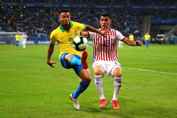 Gabriel Jesus em Brasil x Paraguai na Copa América de 2019