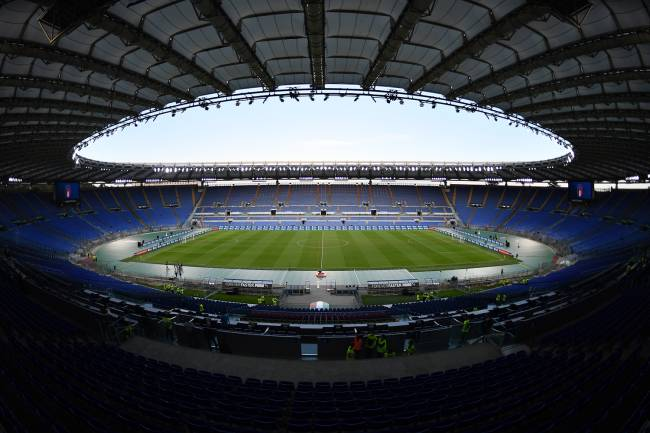 O Stadio Olimpico, na Itália -