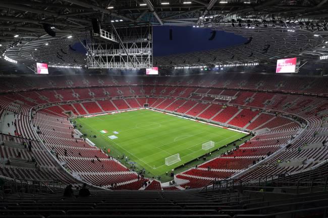 O estádio Puskas Arena, na Hungria-