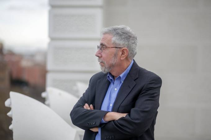Portraits Of The Economist Paul Krugman At The Rafael Del Pino Foundation In Madrid