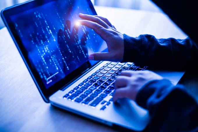 Hacker Concept,Hacker attacking internet.