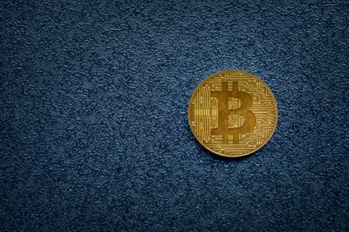 bitcoin on dark background