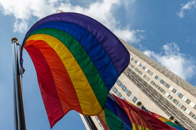 Rainbow flags seen to celebrate Pride Month and 50th