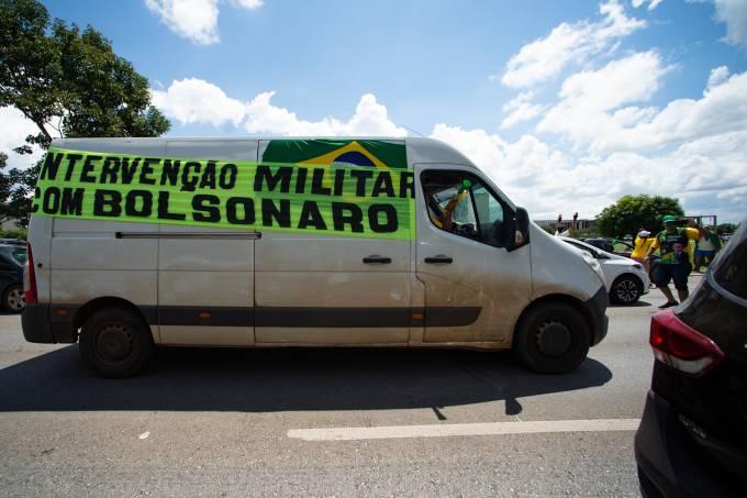 Caravan of Supporters of President Jair Bolsonaro in Brasilia