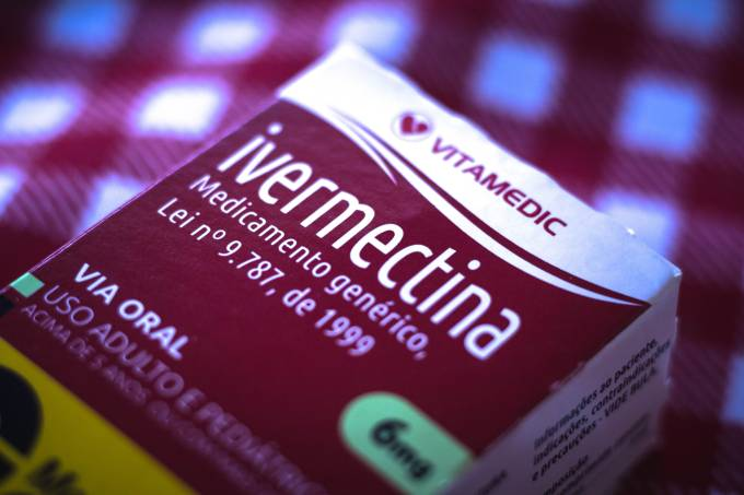 In this photo illustration a box of Ivermectina medicine