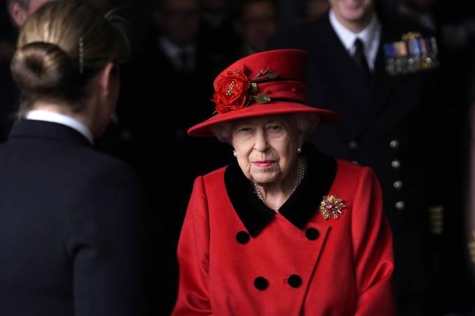 The Queen Visits HMS Queen Elizabeth In Portsmouth