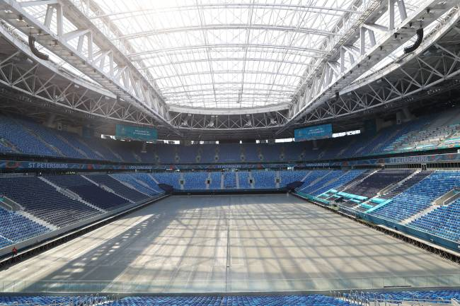 O estádio Saint Petersburg, na Rússia -