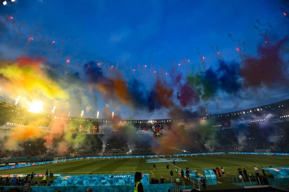 Itália e Turquia na abertura da Eurocopa
