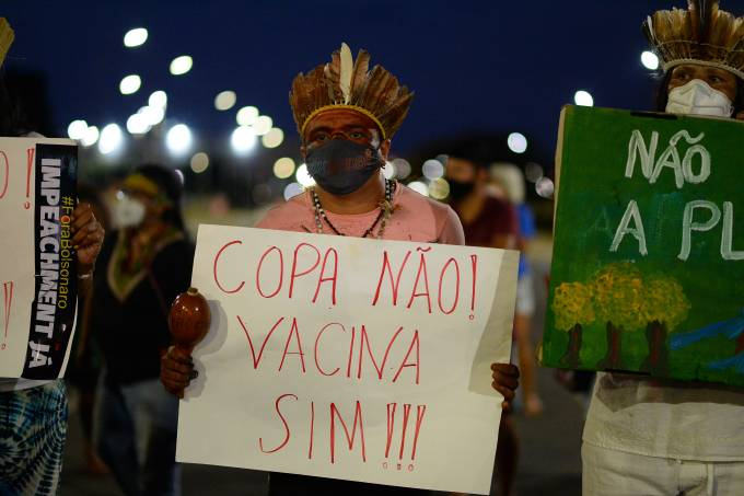 Brazilians Protest As The Country Hosts Copa America Amid Coronavirus Pandemic