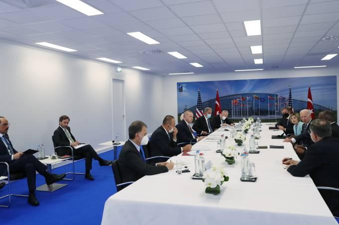 NATO summit in Brussels: Erdogan – Biden meeting between delegations