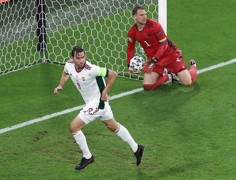 Adam Szalai marcou o gol da Hungria contra a Alemanha