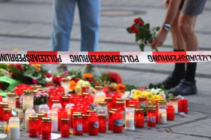 After knife attack in Würzburg city centre