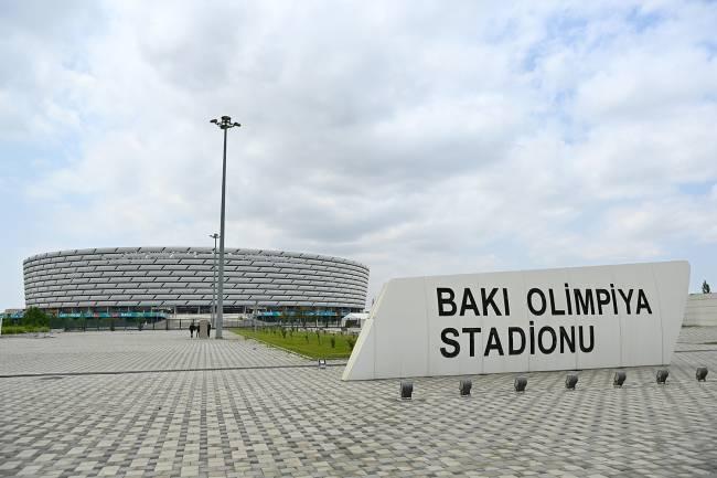 O estádio Olímpico de Baku, no Azerbaijão -