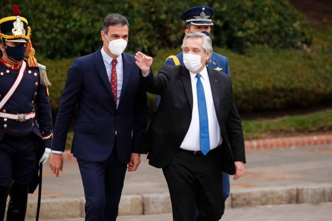 Spanish Prime Minister Pedro Sanchez Visits Argentina