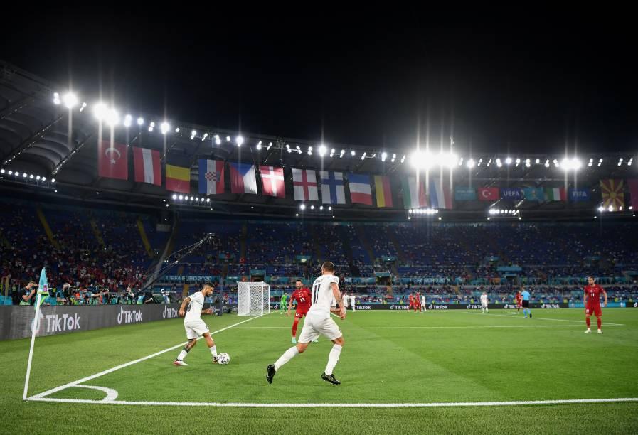 Lorenzo Insigne durante a partida entre Itália e Turquia