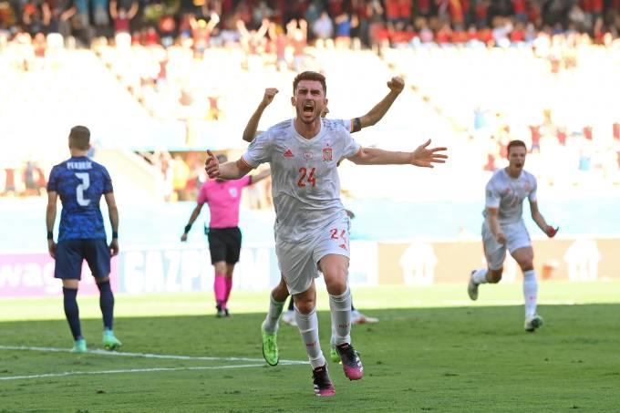 Aymeric Laporte marcou seu primeiro gol pela seleção espanhola