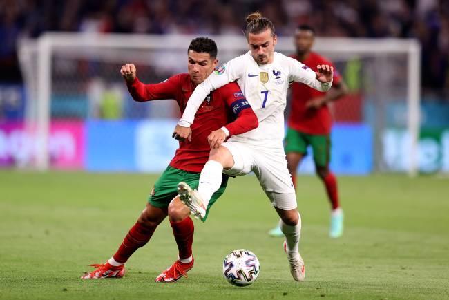 Cristiano Ronaldo e Griezmann dividem em Portugal x França
