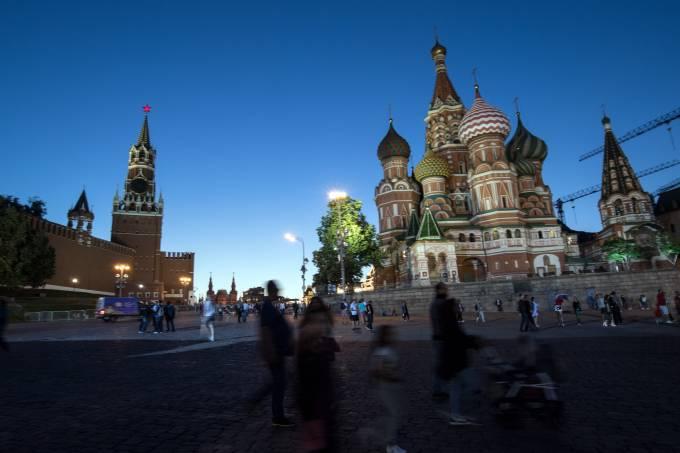 Praça Vermelha, em Moscou: país registra novo recorde de casos de coronavírus