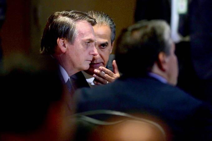 Bolsonaro participa de almoÁo com Ministros EvangÈlicos no Rio.