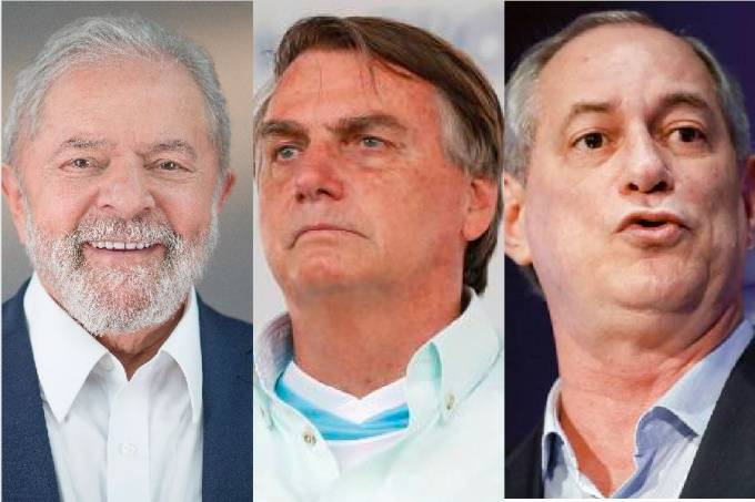 Lula,  Bolsonaro  e Ciro