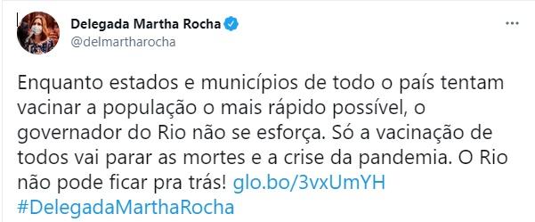 Martha Rocha ataca Cláudio Castro