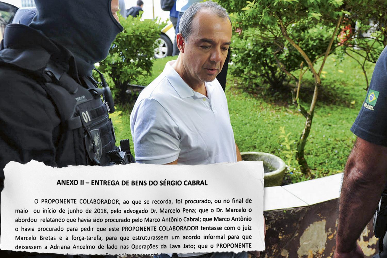 ACORDO INFORMAL -Cabral: orientado pelo juiz a escrever uma confissão de próprio punho -
