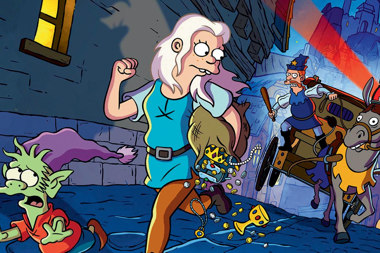 (DES)ENCANTO -O mesmo criador de Homer, o idiota-mor de Os Simpsons, produz Desencanto, uma sátira da Idade Média em que um rei manipulador é desafiado pela filha adolescente -