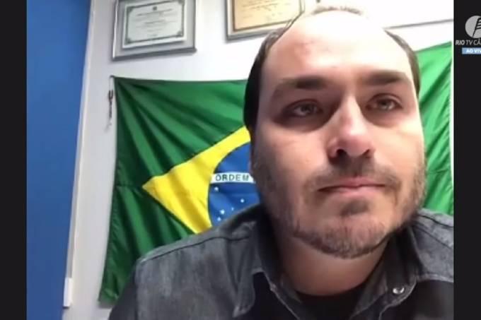 Carlos Bolsonaro chora em sessão