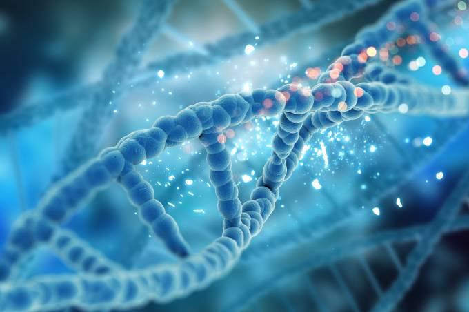 3D render of a medical DNA background