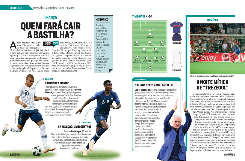 França está no Grupo F da Euro ao lado de Alemanha, Portugal e Hungria -