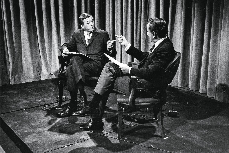 """OUTROS TEMPOS -Vidal e Buckley (à dir.): alto nível no """"debate do século XX"""", com espaço para baixaria e insultos -"""