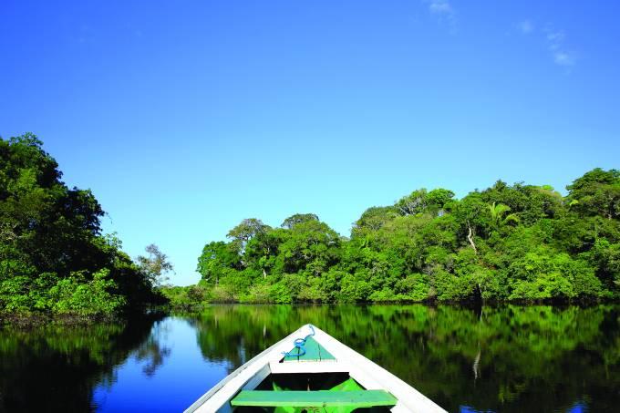 Rio na região amazônica
