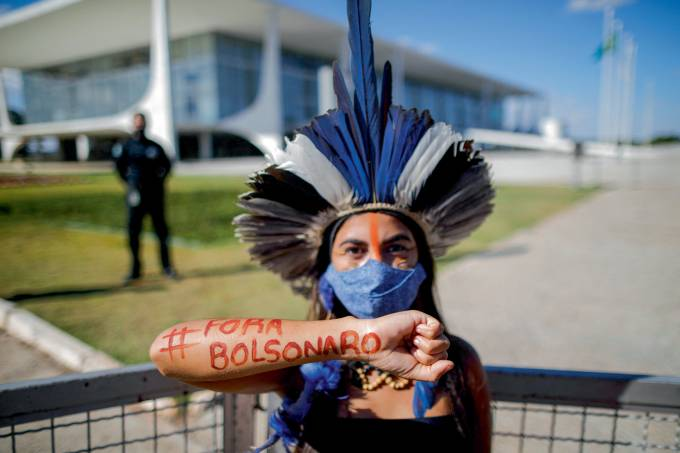 BRAZIL-INDIGENOUS-MINING-PROTEST
