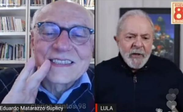 Lula e Eduardo Suplicy participam de live