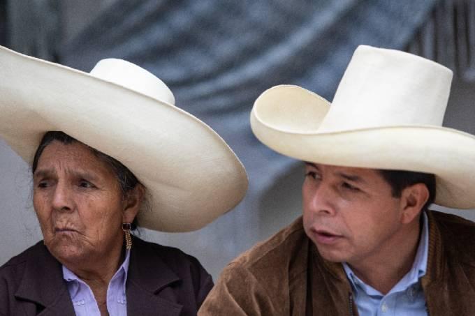 Pedro Castillo, candidato a presidente do Peru //