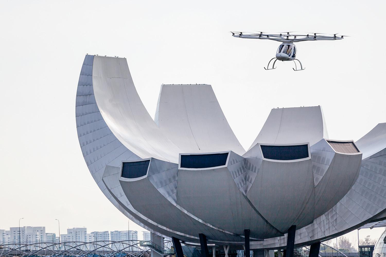 PROVA DE FOGO -Teste de voo do VoloCity em Singapura: sucesso -