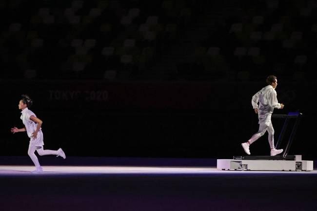Atores simularam a preparação em casa dos atletas olímpicos