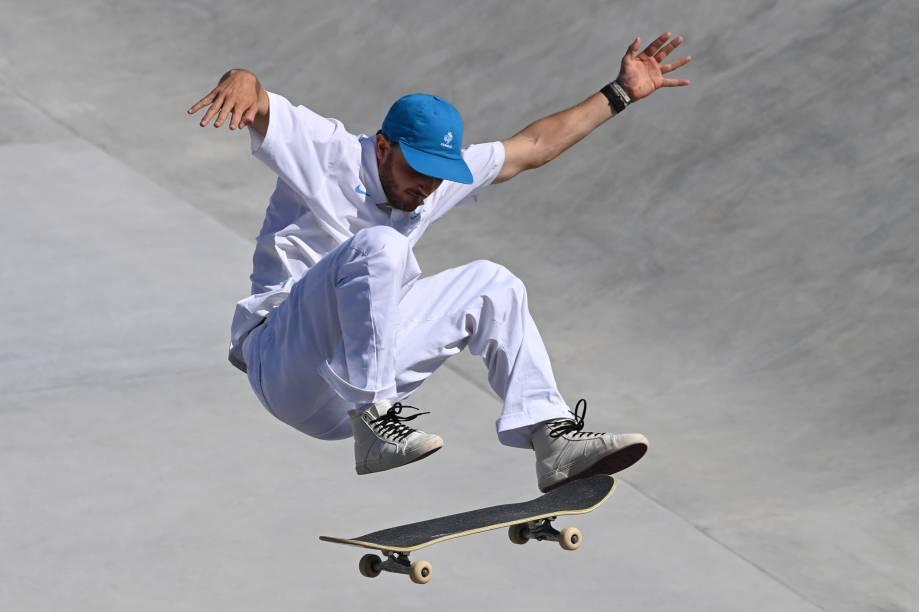 Vincent Milou, da França, em ação durante sua performance -