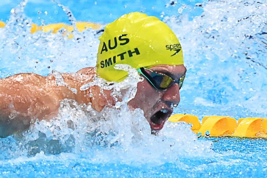 O australiano Brendon Smith em ação na prova medley individual de 400m -