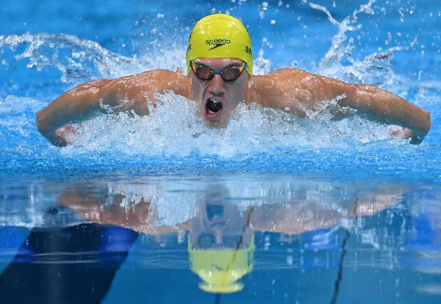 O australiano Brendon Smith durante a prova medley individual de 400m -