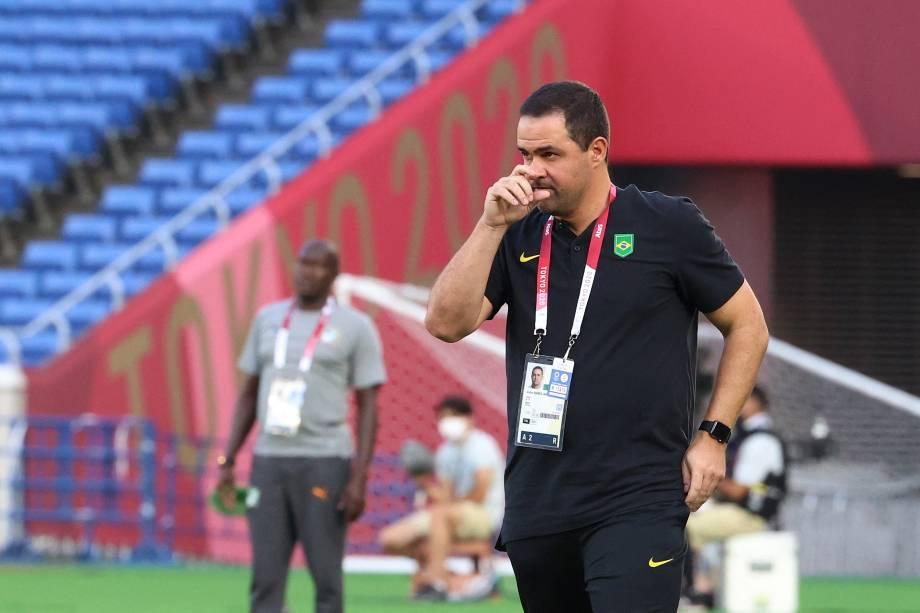 O técnico da seleção brasileira Andre Jardine -
