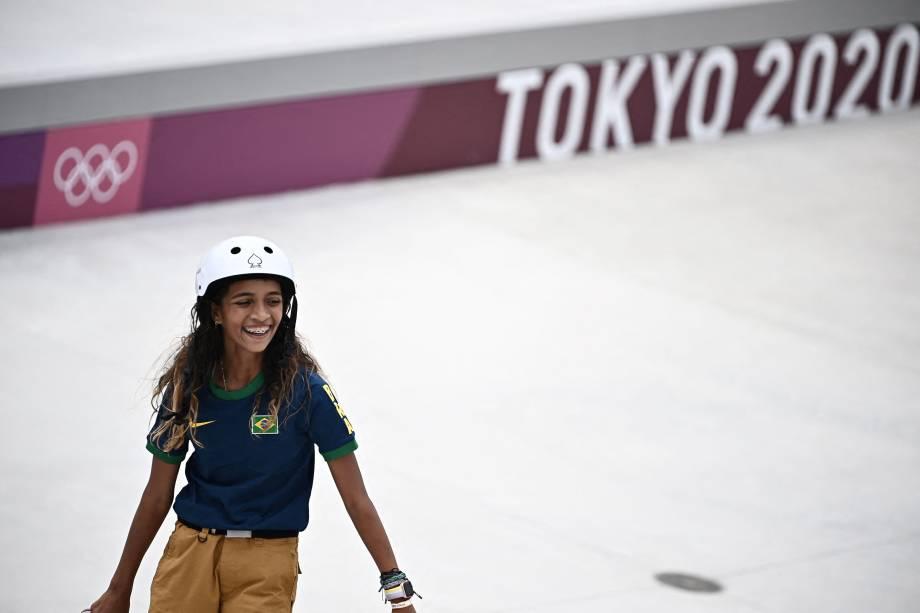 A skatista brasileira Rayssa Leal -